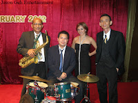 Jason Geh Jazz Quartet comprising of singer, saxophonist, drummer and keyboardist