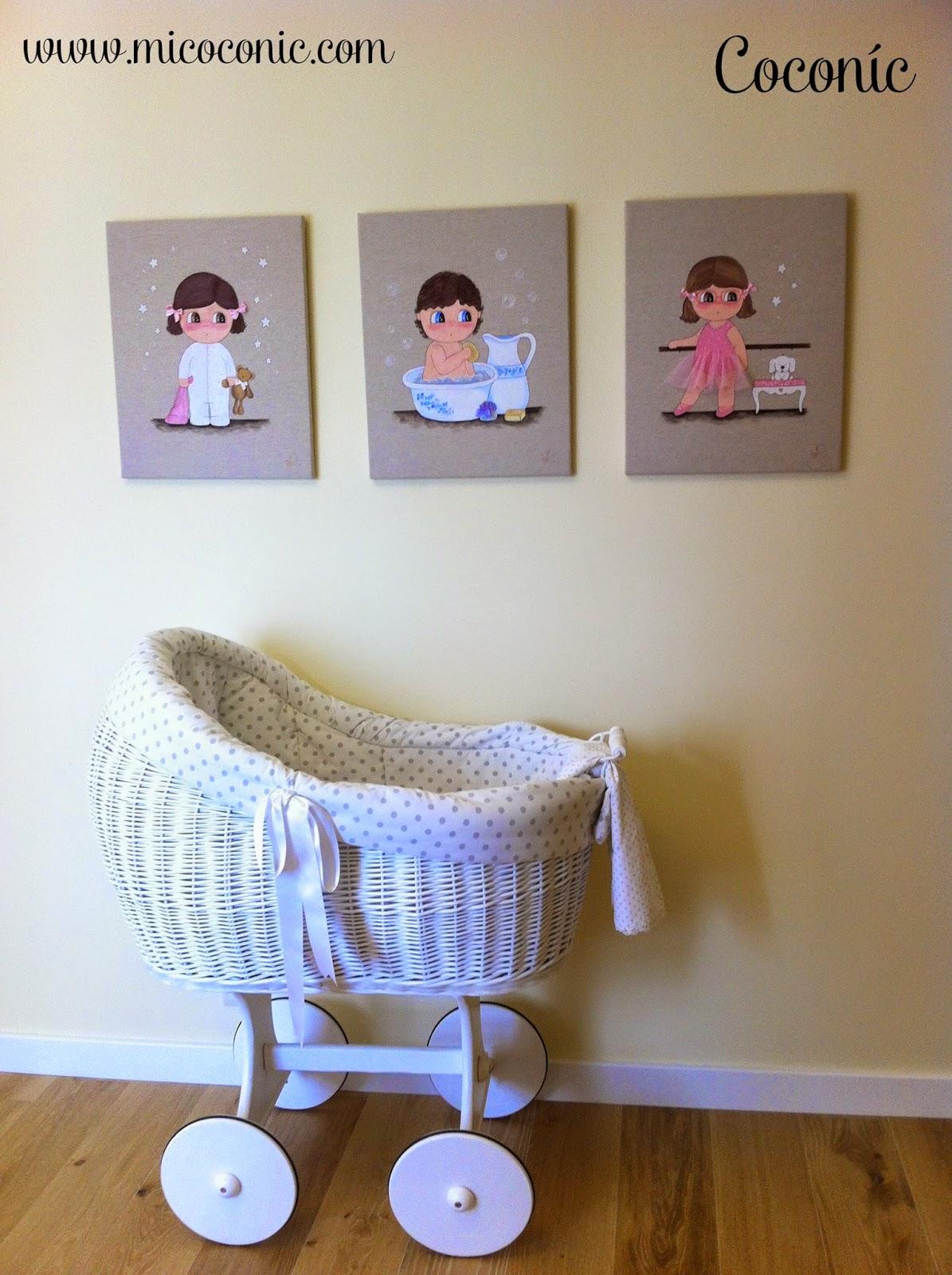 decoración infantil cuadro personalizado niña bebé