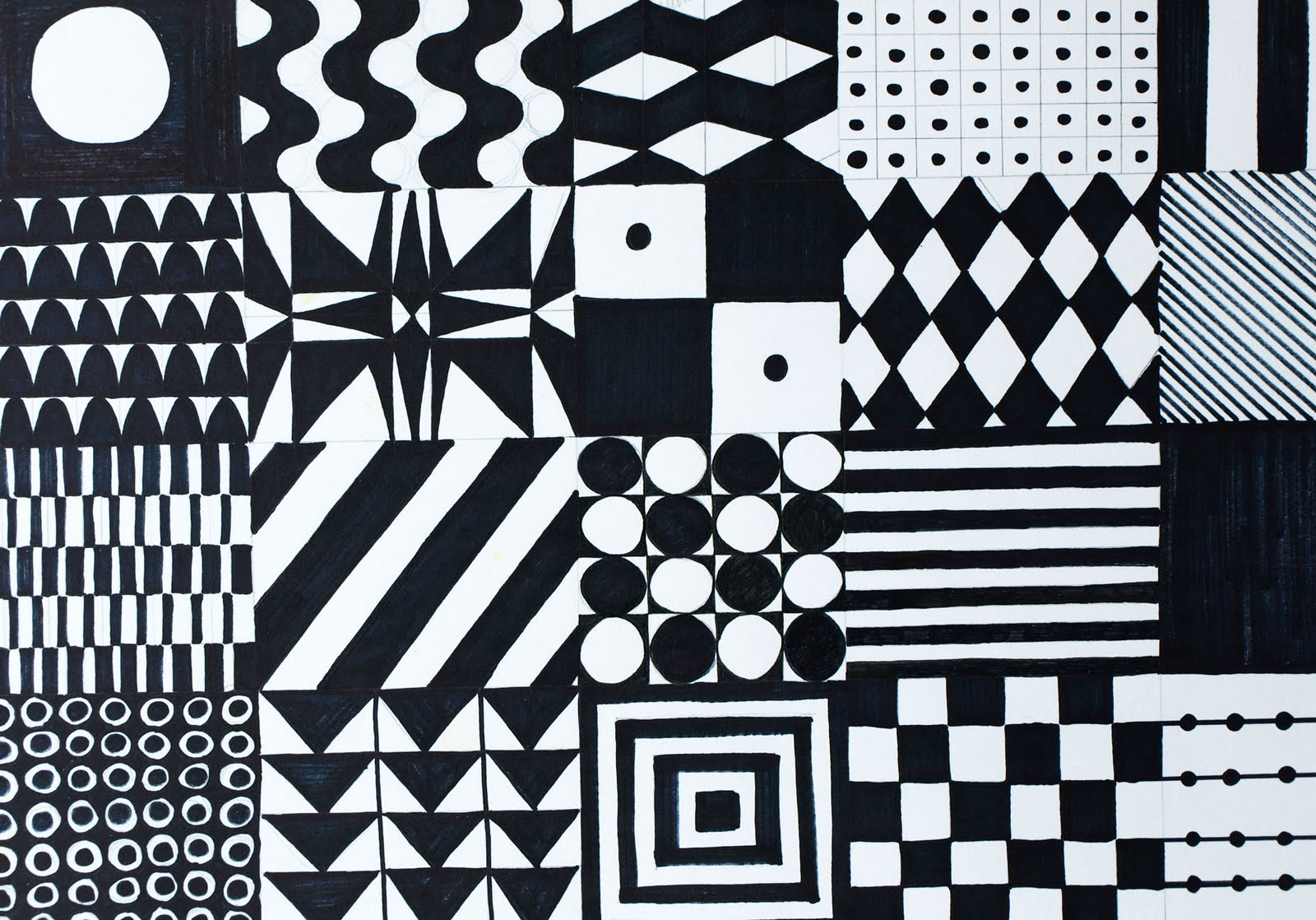 drawings by numbers 71 black and white patterns