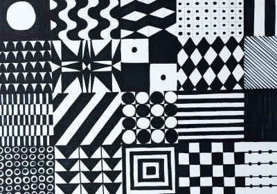 Drawings by numbers...: #71 black and white patterns