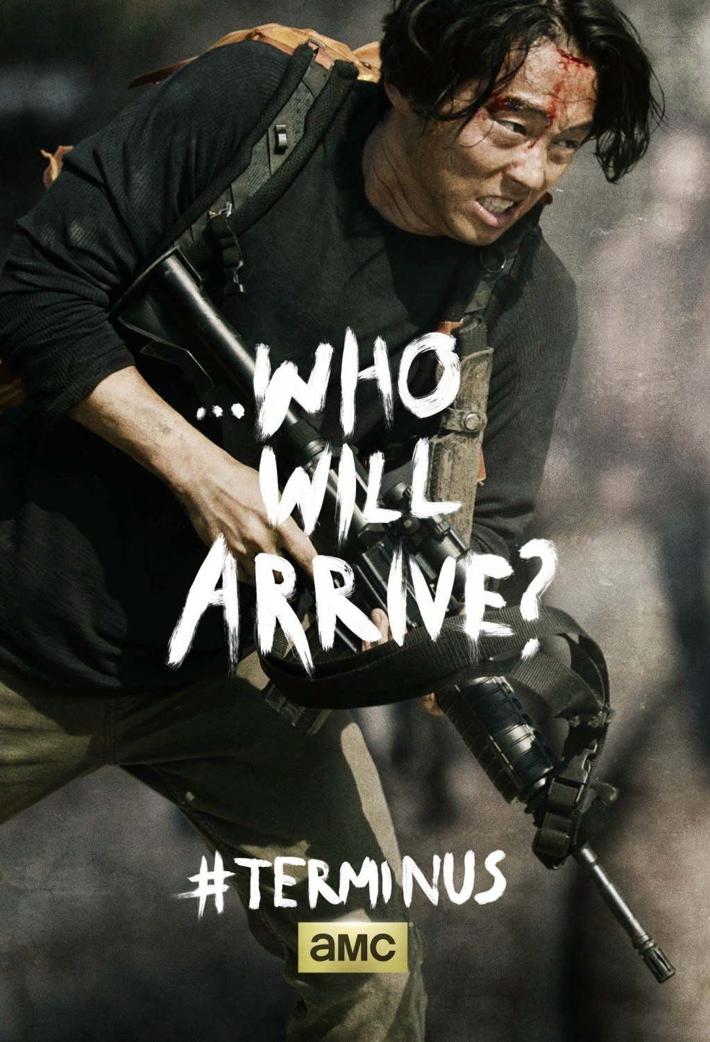 "The Walking Dead Season 4 Finale ""Terminus"" One Sheet Television Posters - ...Who Will Arrive? - Steven Yeun as Glenn Rhee"