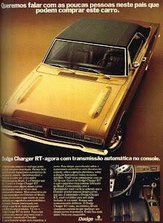 propaganda Dodge Charger RT - 1973