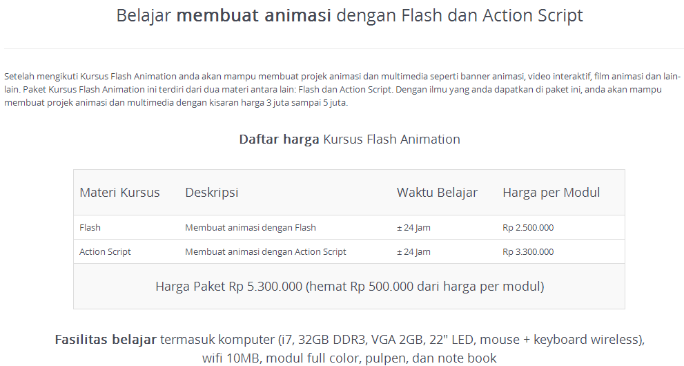 Kursus Flash Animasi