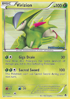 Virizion Pokemon Card Emerging Powers Set