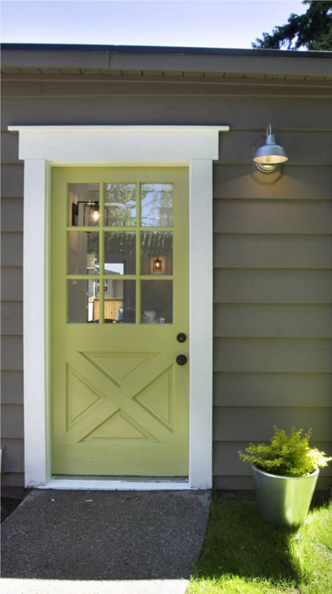 Modern cottage punchy doors for Exterior back doors for home