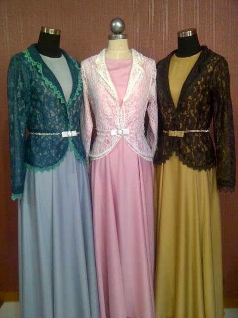 Model Gamis Brokat Baju Gamis