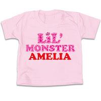 Psychobaby Lil Monster Pink Tee