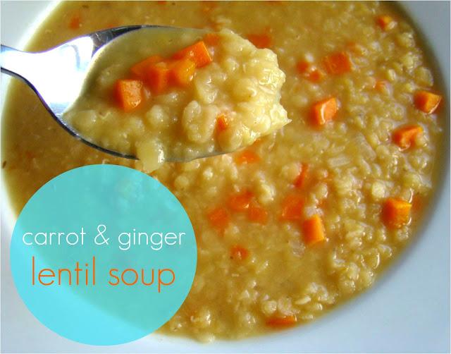 Family Feedbag: Carrot & ginger lentil soup