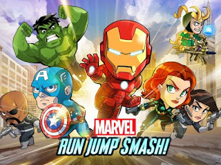 Screenshots of the Marvel: Run jump smash! for Android tablet, phone.