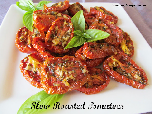 Slow Roasted Tomatoes are seasoned with Italian herbs and slow roasted ...