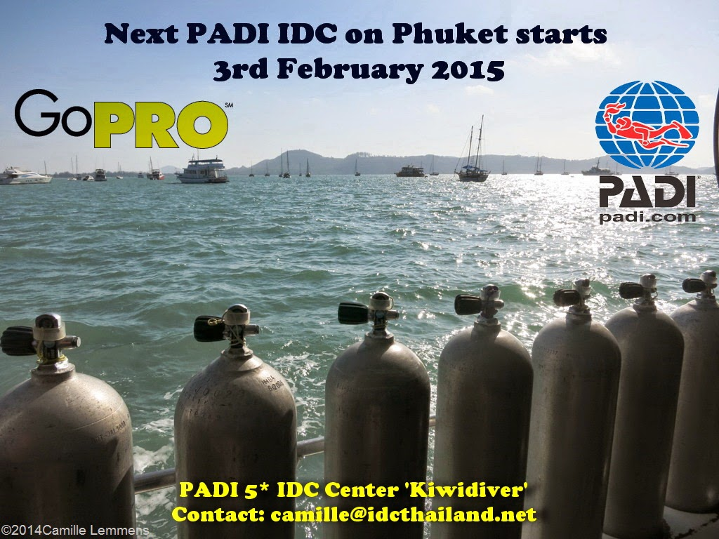 Next PADI IDC on Phuket, Thailand starts 3rd February, 2015