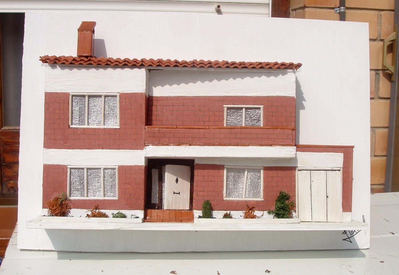 Maquetas De Casas Cuadros Con Relieve Para Regalar