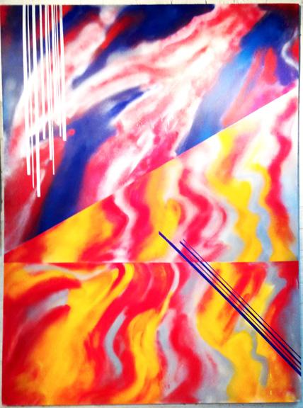 """Emil Memon,"""" HyperAbstraction series"""", paintings"""
