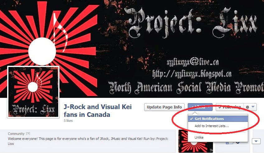 New Facebook Pages For Project: Lixx!