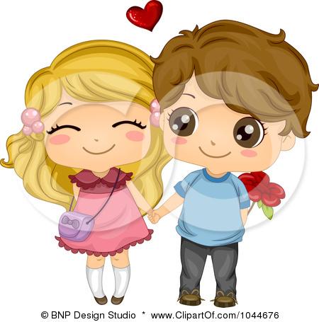 Girl and boys dating cartoon