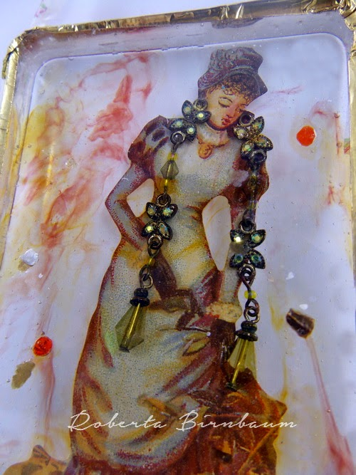 Roberta Birnbaum Victorian Lady Resin Art