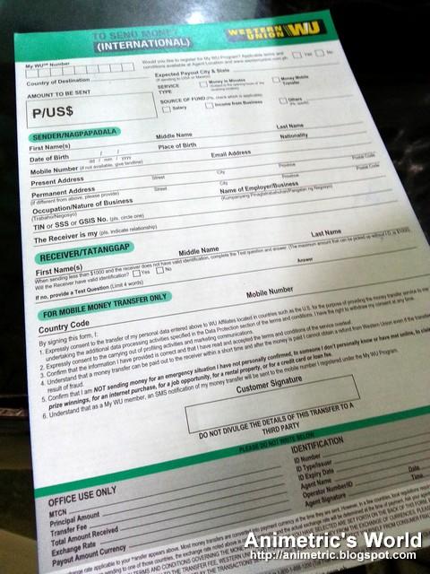 Searchitfast - Image - western union send money form