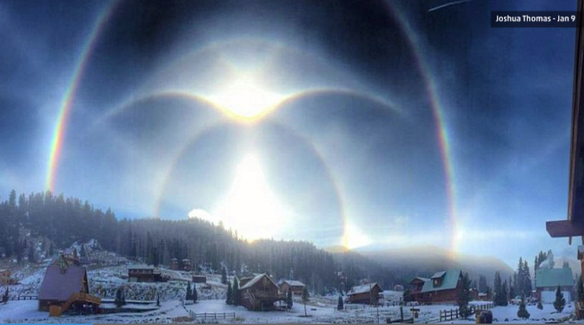 Somptueux halos ciel janvier 2015