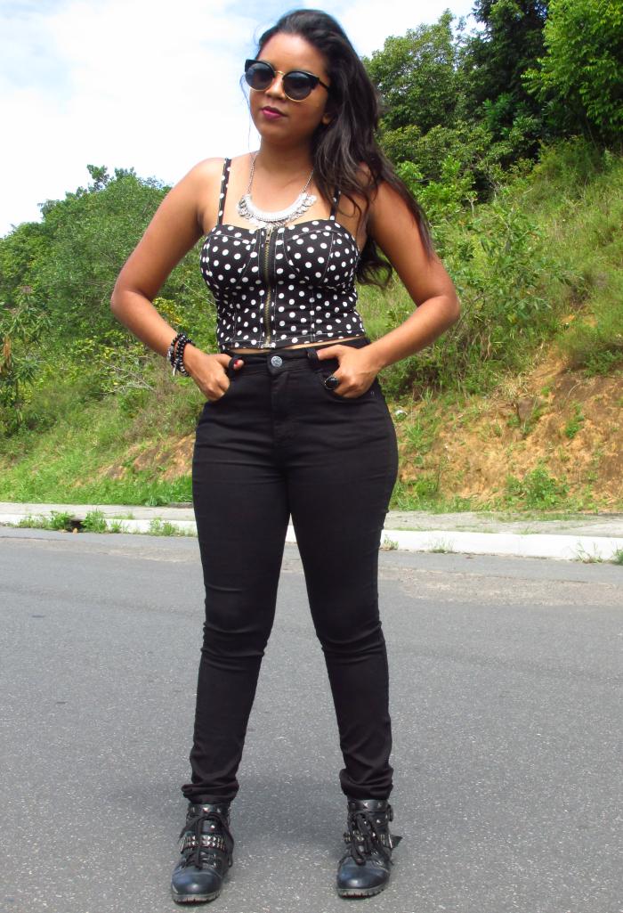 Natália Sena, calça de cintura alta