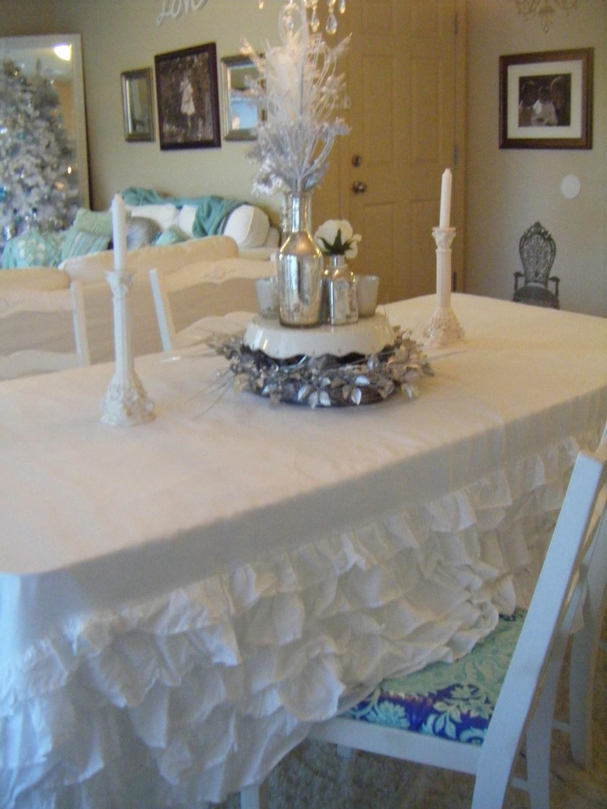 My Ruffled Table Cloth