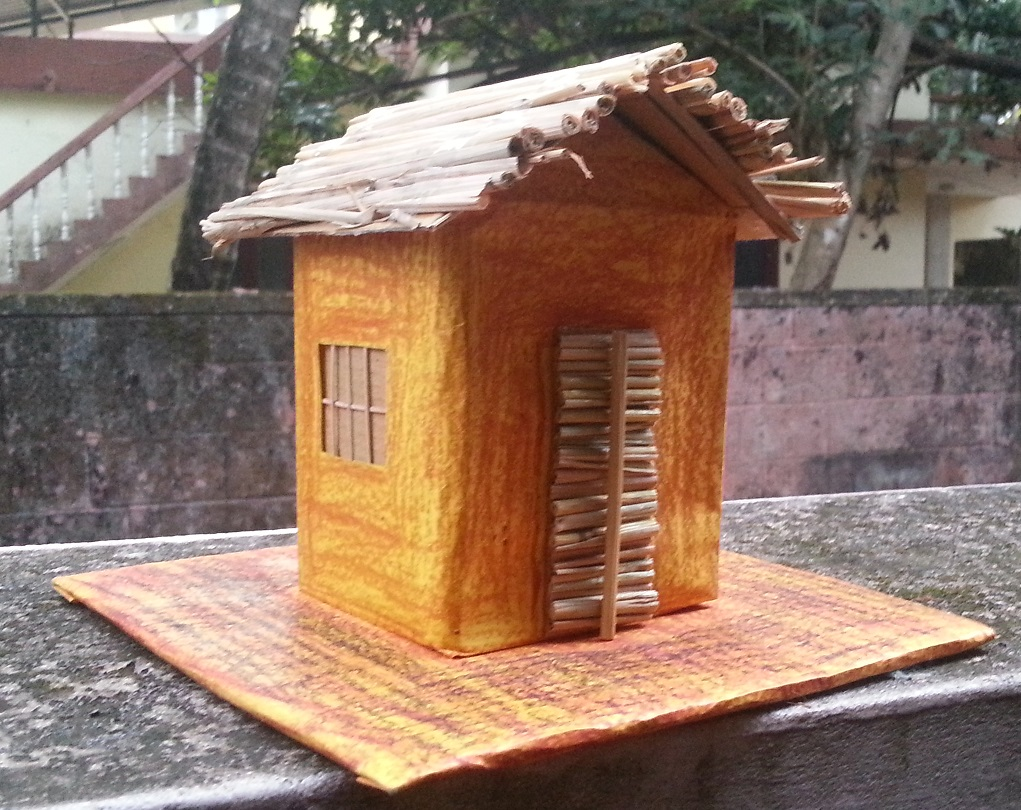 Blog space student project model of kutcha house for Projects of houses