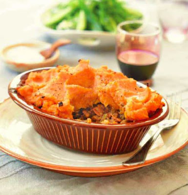 Spiced Lamb Pie with Kumara Mash