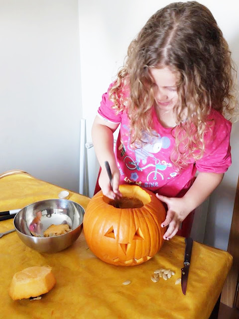 DIY Calabaza de Halloween - blog infantil Mama de Noa