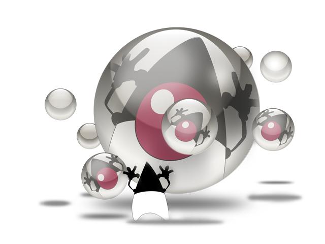 Java Duke with spheres.