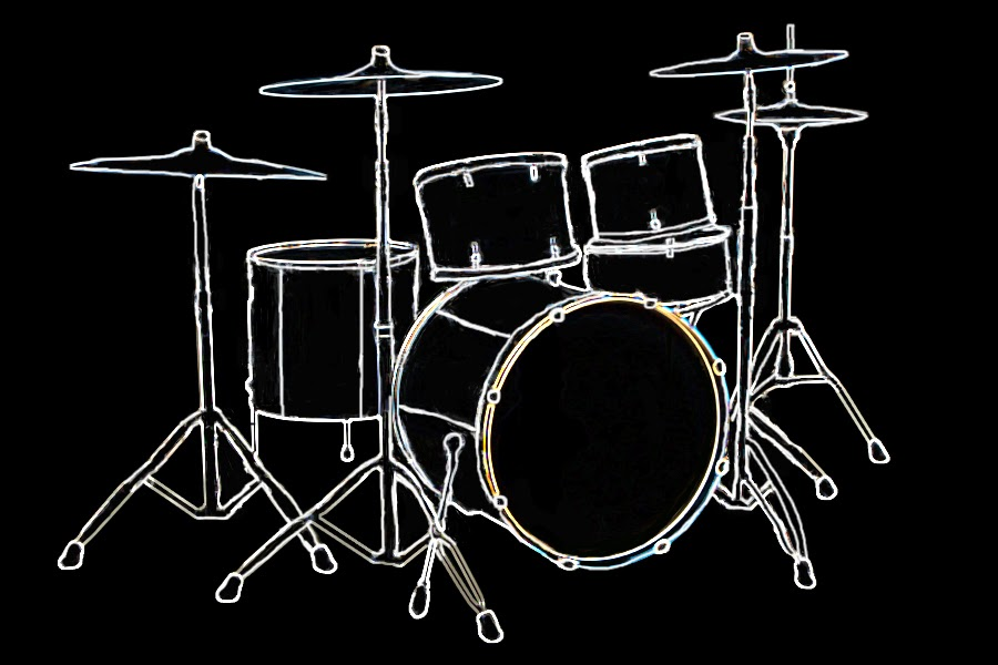 Drum Set Outline Outline of The Drum Set