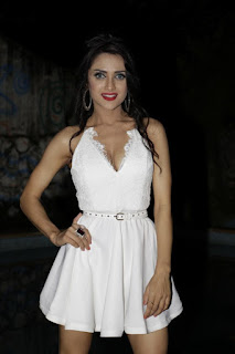 Ramanithu Chaudhary In a cute short White Short Dress At Her Birthday Party In Mumbai