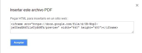 Insertar PDF
