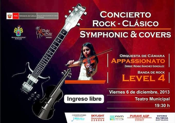 Concierto de Rock Clásico, Symphonic and Cover - 6 diciembre