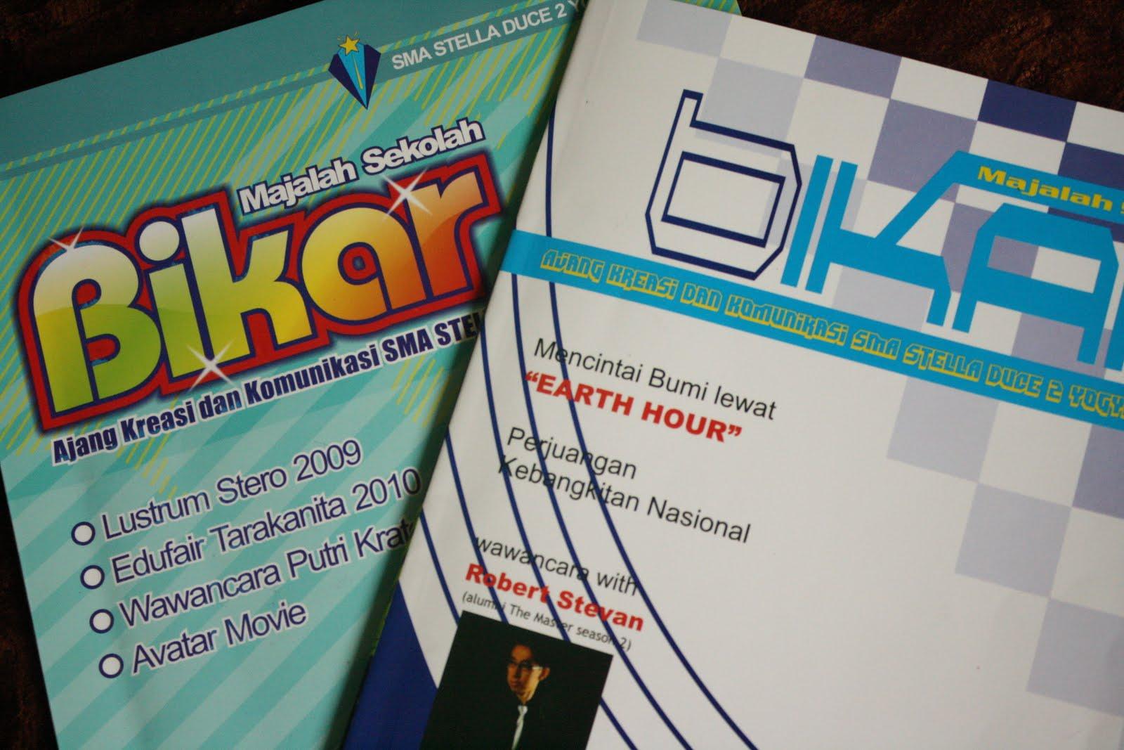 Contoh media bimbingan: majalah sekolah rubrik bimbingan