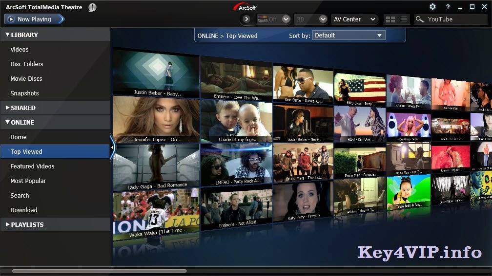 ArcSoft TotalMedia Theatre 6.7.1.199 Full Key,Phần mềm Xem phim Bluray 2D và 3D tuyệt vời