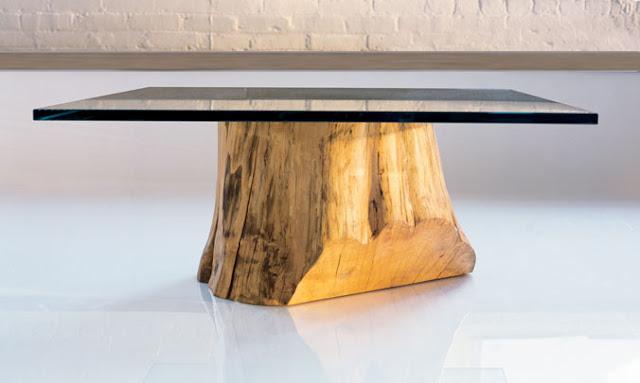 Decorar en crisis mesa de centro for Mesas de troncos de madera