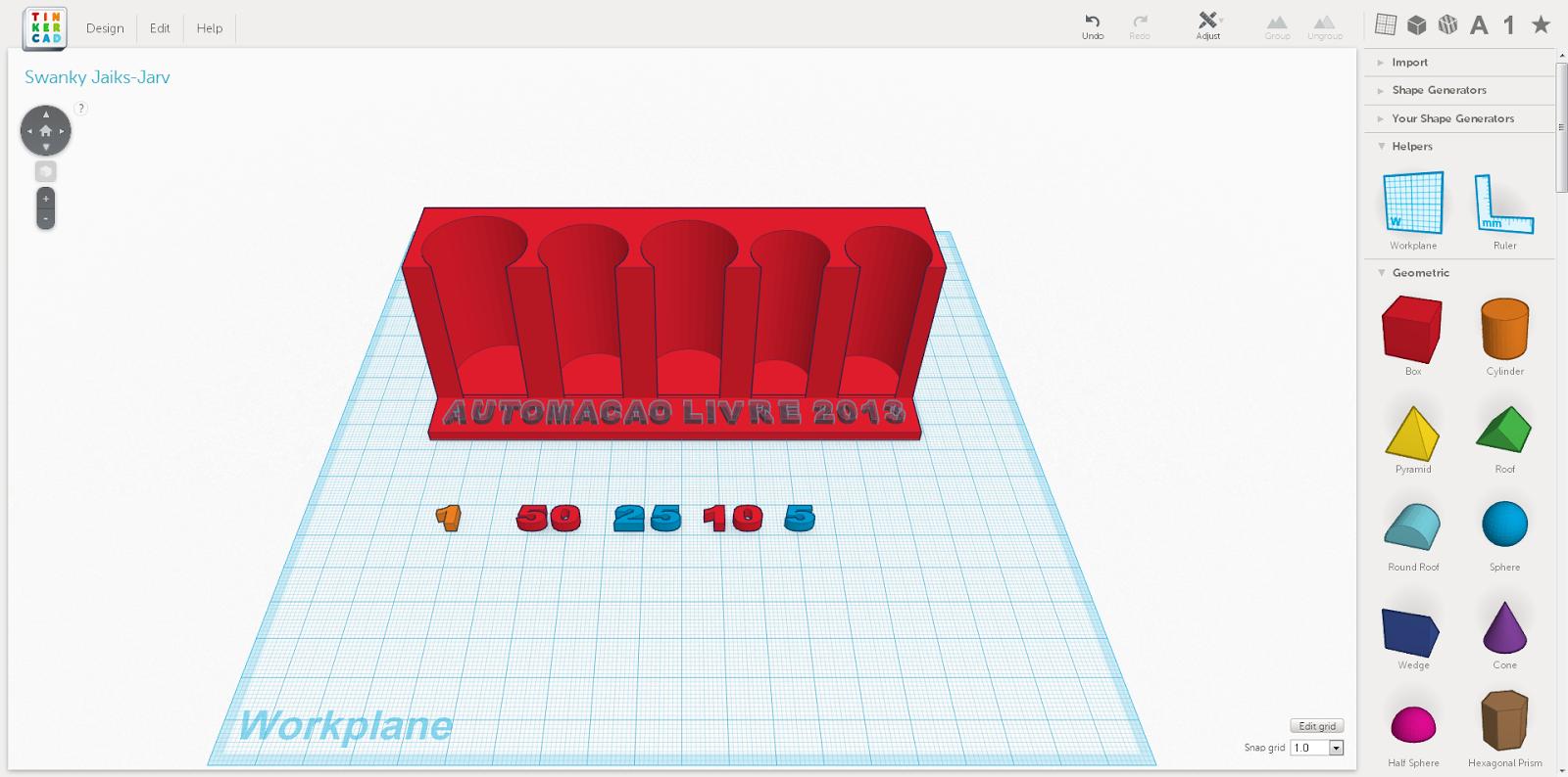Desenhando e imprimindo uma pea na impressora 3d automao livre o texto foi transformado ccuart Image collections