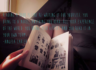 book and a cuppa, bookandacuppa, book&cuppa, Book & a Cuppa, photography,girl reading, legs, book, sunlight, nook, graphic novel, sofa, attic, Marjane Satrapi, Persepolis, quote, literature, woman, Angela Carter, re-writing