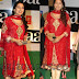 Juhi Chawla in Red Quarter Sleeves Salwar