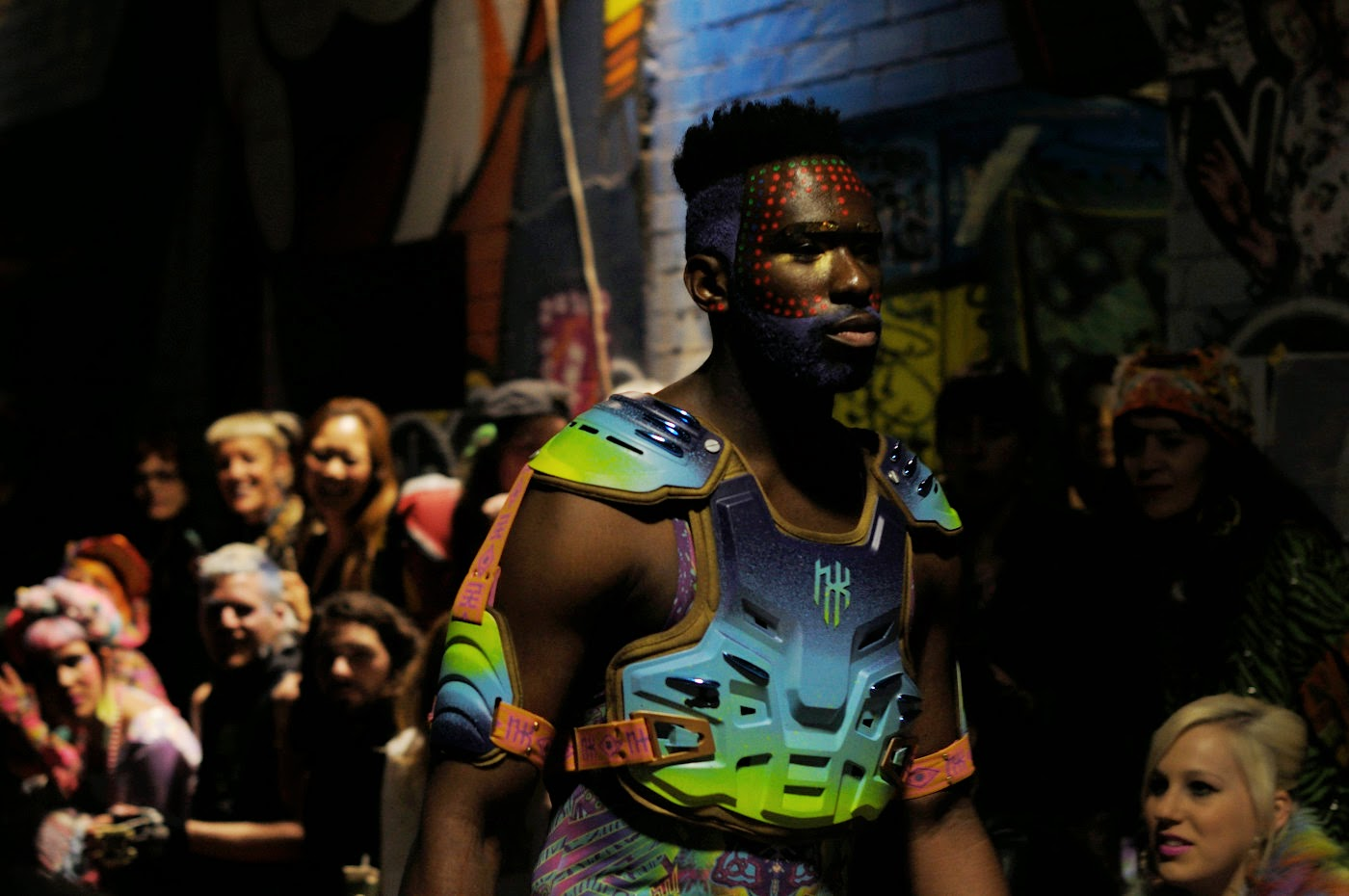 Nixi,killick, nixi killick, colour tribe, MSFW, Melbourne Spring Fashion Week, tim Macauley, runway, show, neon, Fluoro, fluorescent, 2014, designs