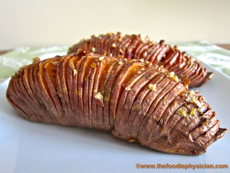 Dining with the Doc: Hasselback Sweet Potatoes - The Foodie Physician