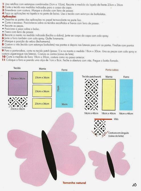 Capa para notebook com moldes
