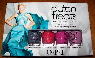 Nail Polish, Nail Varnish, OPI minis, Dutch Treats, I Have a Herring Problem, Red Lights Ahead..Where?,Kiss Me on My Tulips, Pedal Faster Suzi!
