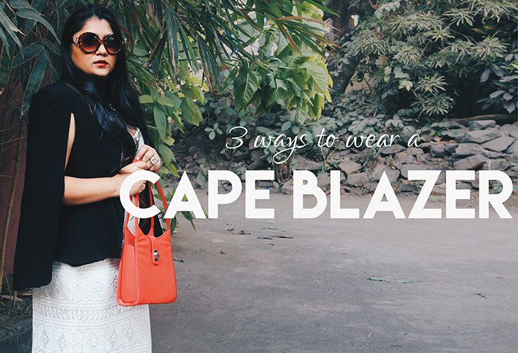 3 ways to wear a cape blazer