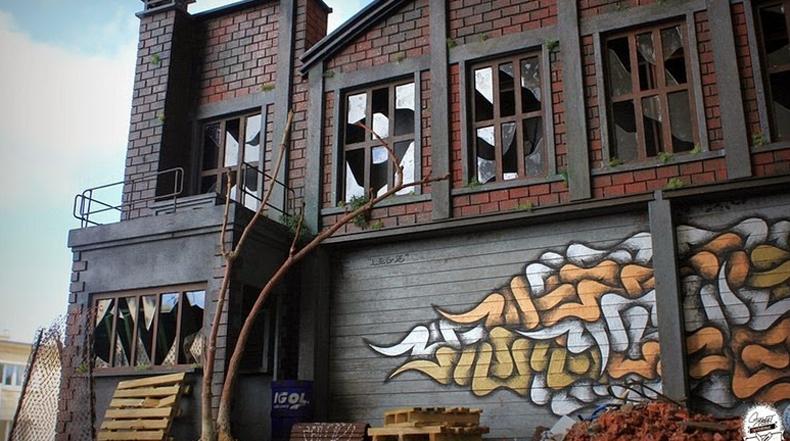 Dioramas en miniatura de graffiti suburbano de Benjamin Affagard