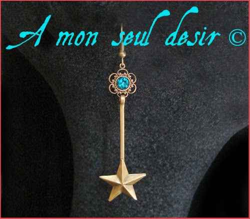Boucles d'Oreilles Baguette magique Magie blanche fée sorcier magicien sorcellerie Harry Potter Hermione Granger bijou Magic Wand Earrings