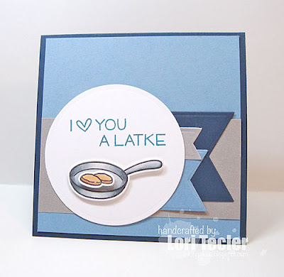 Love You a Latke card-designed by Lori Tecler/Inking Aloud-stamps from Lawn Fawn