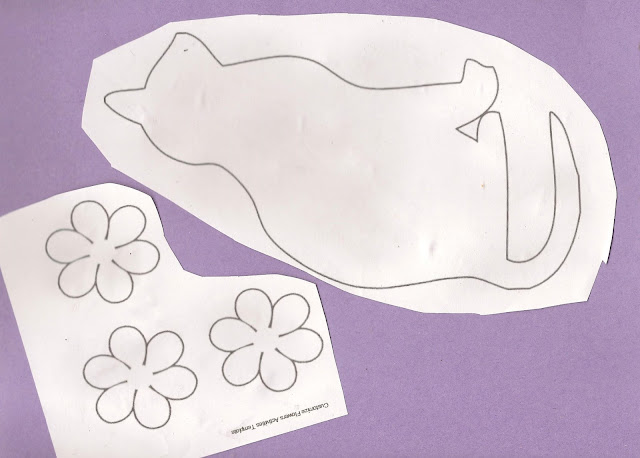 free printable cat template craft activity