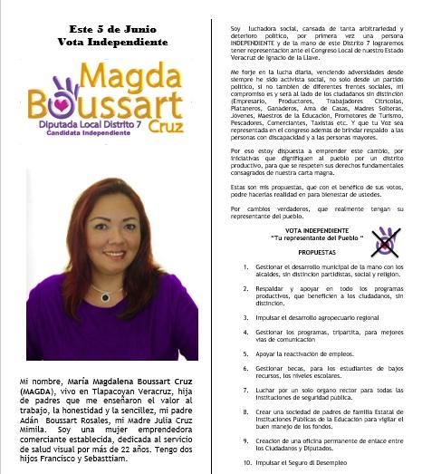 Propuestas de Magdalena Boussart
