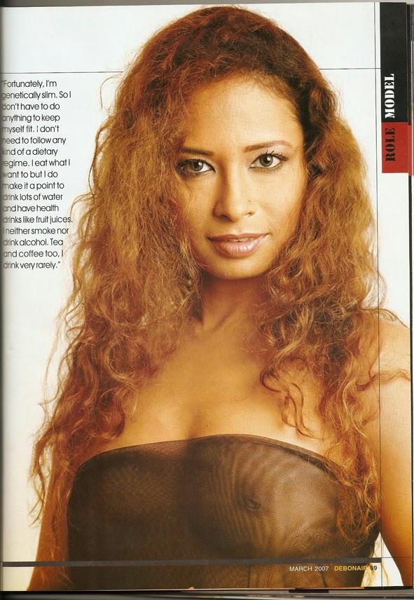 Ishika Borah nude showing her nipples in Debonair magazine