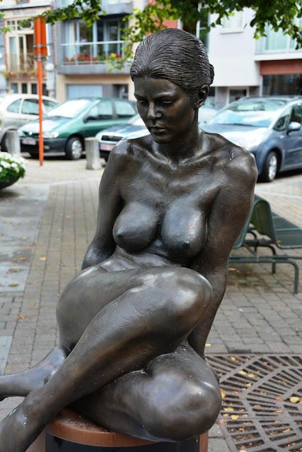 Sculptor Irenee Duriez in Blankenberge